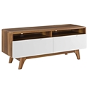 Oracle Modern Walnut + White TV Stand
