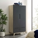Oracle Contemporary Storage Wardrobe in Natural + Gray