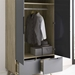 Oracle Contemporary Wardrobe in Natural + Gray
