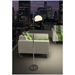 Orbit Modern Chrome and Glass Floor Lamp