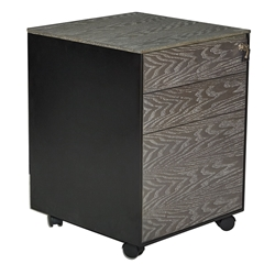 Oslo Modern 3-Drawer Mobile File Cabinet