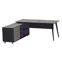 Oslo Modern Executive Desk w/ Left Cabinet