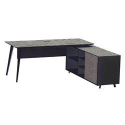 Oslo Modern Executive Desk w/ Right Cabinet