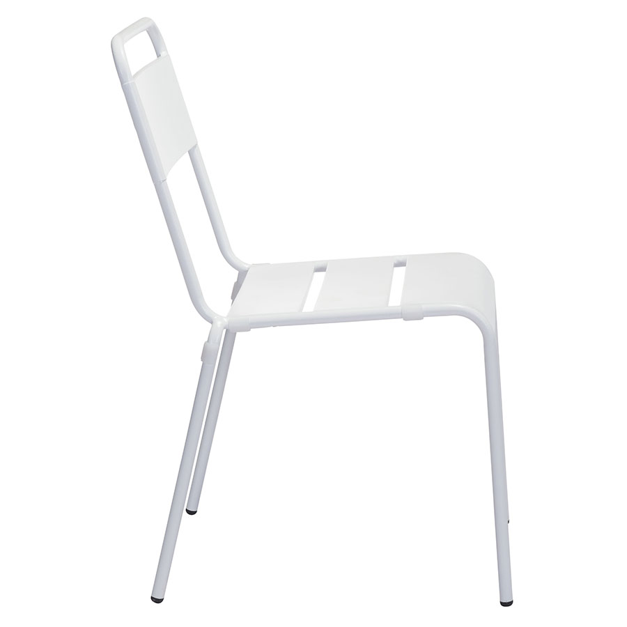 Orestes White Steel Modern Outdoor Dining Chair
