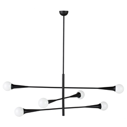 Nuevo Orion 3 Matte Black Steel Modern Pendant Lamp
