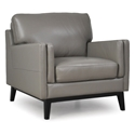 Orion Modern Gray Genuine Leather Chair