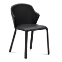Orion Black Leather Modern Dining Chair