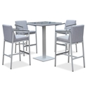 Orleans Modern 5pc Outdoor Bar Table Set