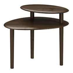 BDi Orlo Modern End Table in Toasted Walnut