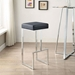 Orly Black Contemporary Bar Stool