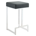 Orly Black Modern Counter Stool