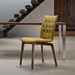 Orson Pea Wood + Fabric Modern Dining Chair
