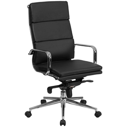 Oscar Modern Classic High Back Office Chair in Black