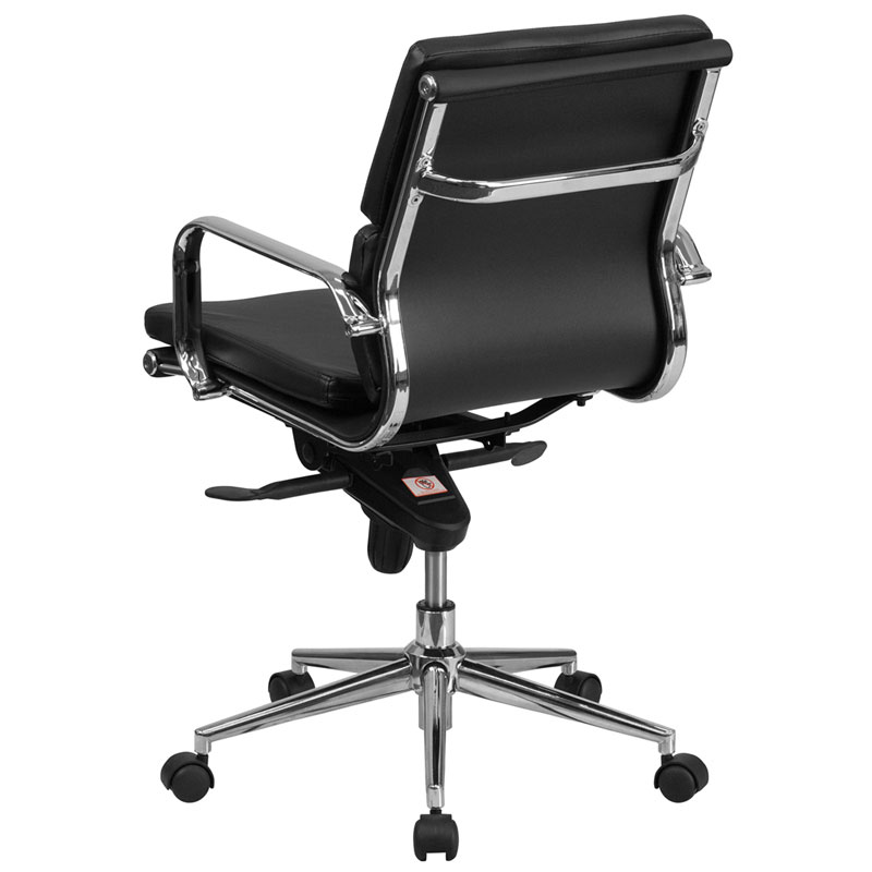 Oscar Black Modern Mid Back Office Chair View