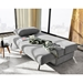 Osvald Modern Sofa Bed in Light Gray Fabric