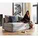 Innovation Osvald Modern Full Sleeper in Light Grey