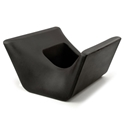 Otto Black Outdoor Ottoman + Planter by Offi & Company