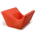 Otto Orange Outdoor Ottoman + Planter by Offi & Company