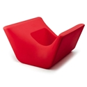Otto Red Outdoor Ottoman + Planter by Offi & Company