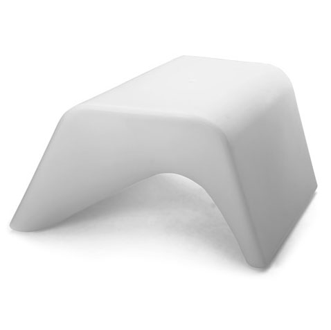 Otto White Outdoor Ottoman + Planter by Offi & Company