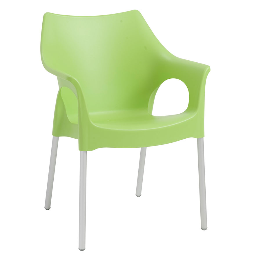 Ola Green Modern Dining Chair