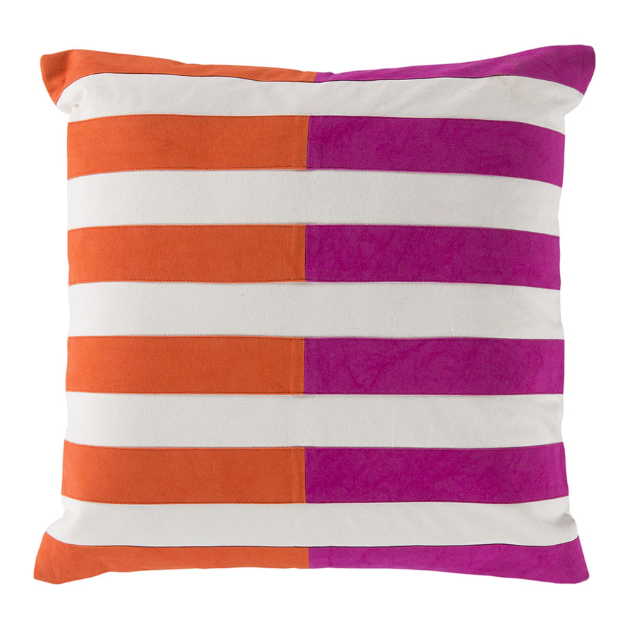 "Oxana 18"" Orange Modern Pillow"