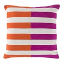 "Oxana 22"" Orange Modern Pillow"