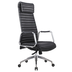 Oxford Black Modern Executive Office Chair