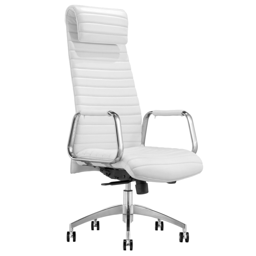 Call To Order Oxford White Modern Executive Office Chair