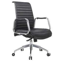 Oxford Black Modern Office Chair
