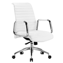 Oxford White Modern Office Chair