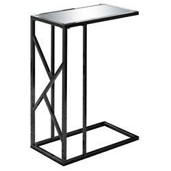 Ozark Modern Black + Mirror Accent Table