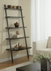 Paige Espresso Modern Leaning Bookcase