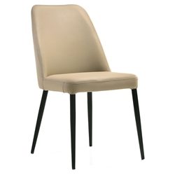 Palermo Modern Light Mocha Leather Dining Chair
