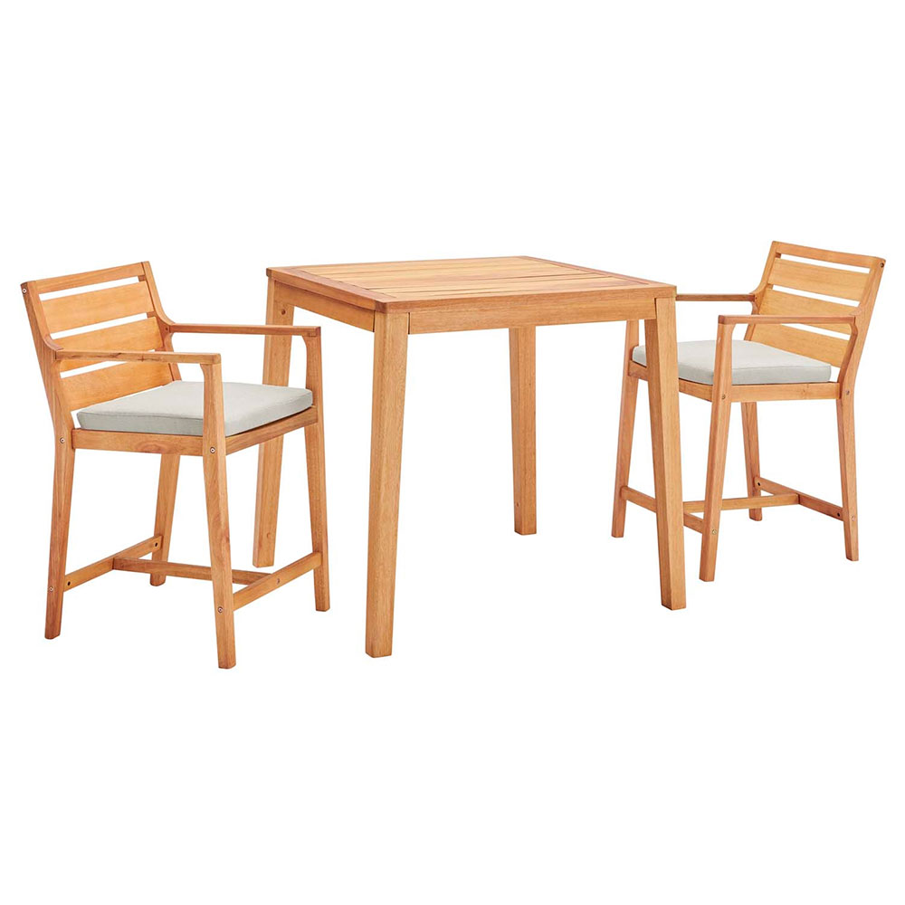 Palisades 3pc Modern Outdoor Counter Table Set