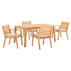 Palisades Modern 5pc Outdoor Dining Table Set