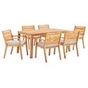 Palisades Modern 7pc Outdoor Dining Table Set