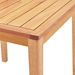 Palisades Modern Outdoor Karri Wood Counter Table - Top Detail