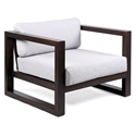 Palm Beach Modern Dark Wood Outdoor Lounge Chair
