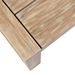 Palm Beach Modern Outdoor Light Wood Coffee Table - Top Detail