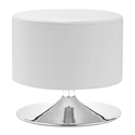 Plump White Contemporary Ottoman