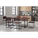 Palo Alto Rustic Modern Live Edge Dining Table + Chairs