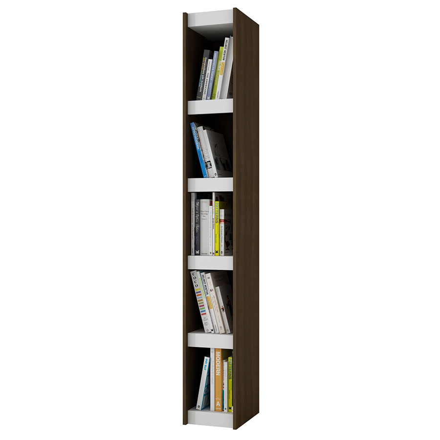 Panama 10 Inch Contemporary Tobacco Book Shelf