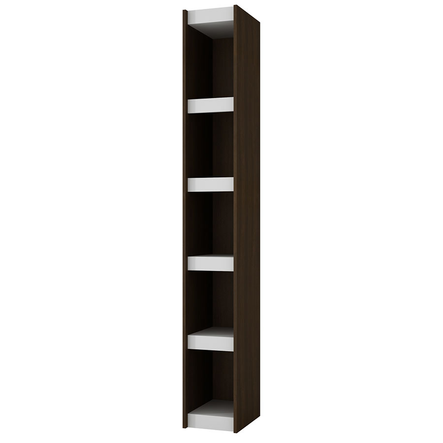 Panama 10 Inch Modern Tobacco Book Shelf