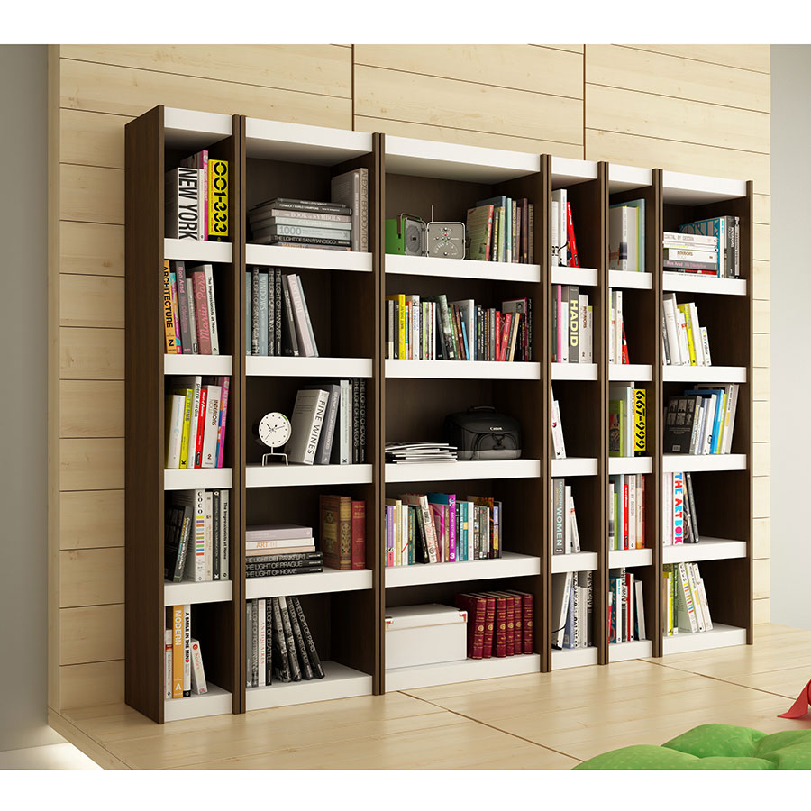 Panama 10 Inch White and Tobacco Book Shelf