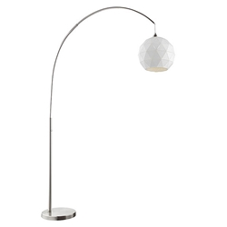 Panda Modern Brushed Nickel Arc Floor Lamp