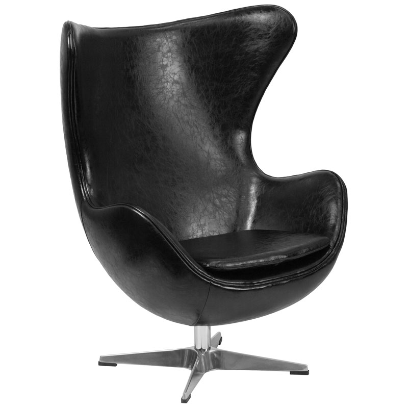 Paradigm Lounge Chair in Black Leathersoft