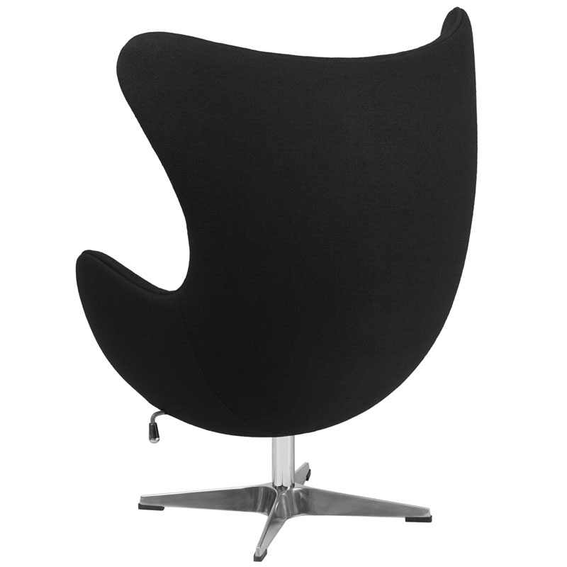Paradigm Modern Black Wool Lounge Chair