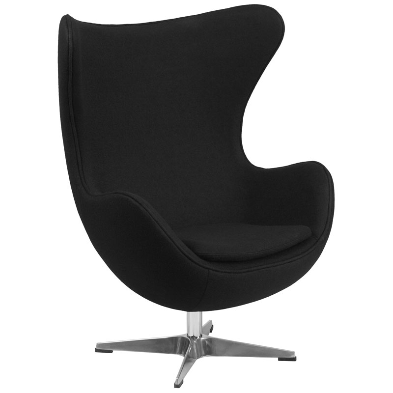 Paradigm Lounge Chair in Black Wool