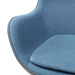 Paradigm Blue + Walnut Mid-Century Modern Lounge Chair - Arm Detail